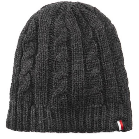 Tommy Hilfiger men s fleece lined cable knit hat 3ec76037309
